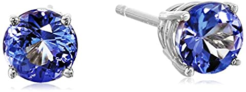 14k White Gold Tanzanite Stud Earrings (1 cttw)