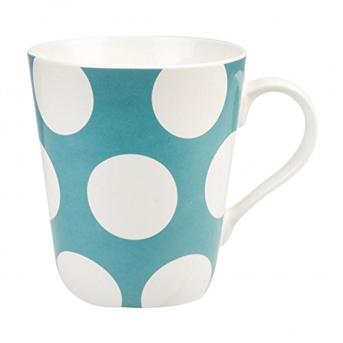 Cath Kidston 1-piece Big Spot Stanley Shaped Fine China Mug, Turquoise