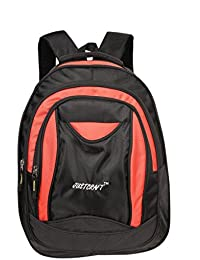 Justcraft Jupiter Black And Red 25 Liters Backpack