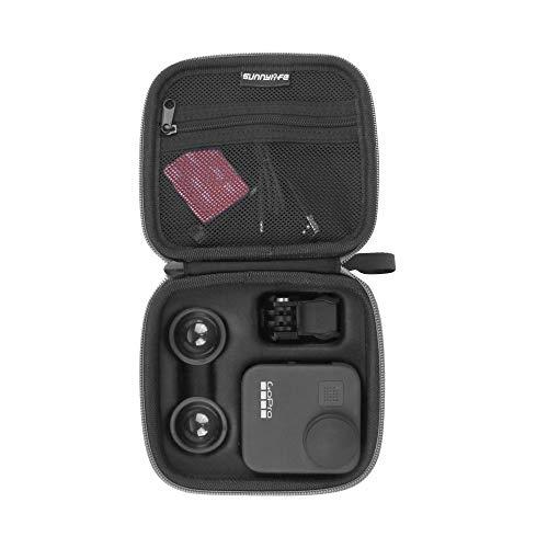 Linghuang Sac de Rangement Dur pour GoPro Max Caméra d'action Panoramique Étui de Protection pour Kit Accessoires Taille 141 * 131 * 65mm