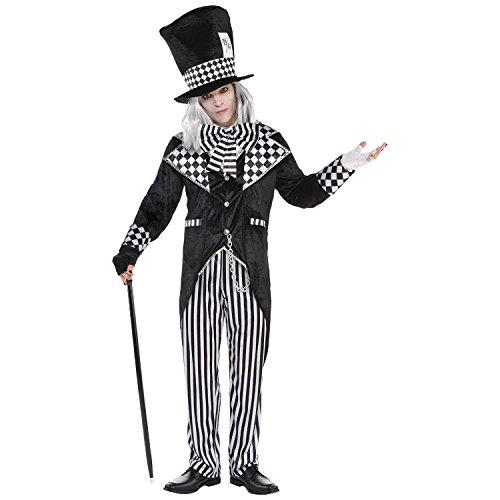 Erwachsene total wütendes Hutmacher neues Kostüm Mens Evil Alice ()