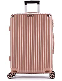 XIAOHAOHAO Trolley Case-Silent Universal Wheel-Anti-Theft-ABS Material Suitcase-Wearable Waterproof and Shockproof Suitcas,20in