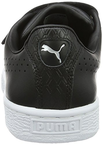 Puma Basket Classic Strap B&w, Sneakers basses mixte adulte Noir (Puma Black-puma White 01)