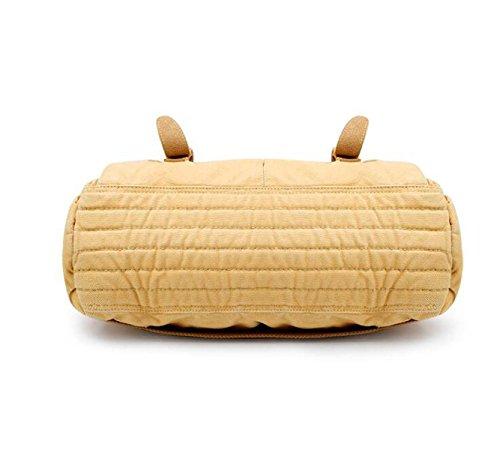 MYLL Unisex Retrò Borsa Mailman Casual Shoulder Bag Messenger Khaki