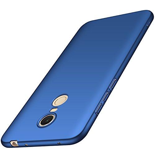 anccer Xiaomi Redmi 5 Plus Hülle, [Serie Matte] Elastische Schockabsorption und Ultra Thin Design für Xiaomi Redmi 5 Plus (Glattes Blau)