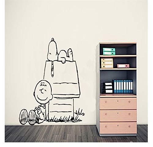 Lzyx Charlie Brown Erdnuss Wandkunst Aufkleber Baby Wandtattoos Wandbild Wandaufkleber Nersery Home DecorWallpaper 53X55 Cm