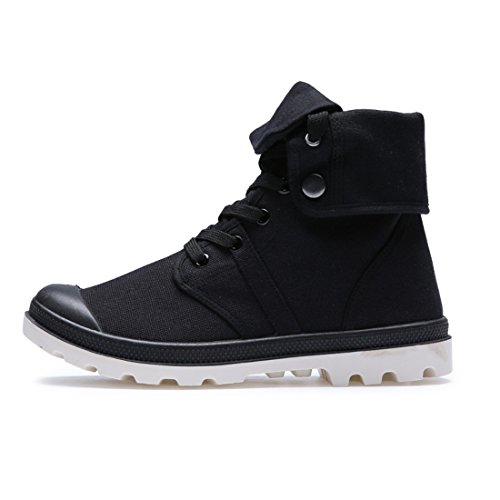 Men's Lace Up High Style Paladins Canvas Shoes Black