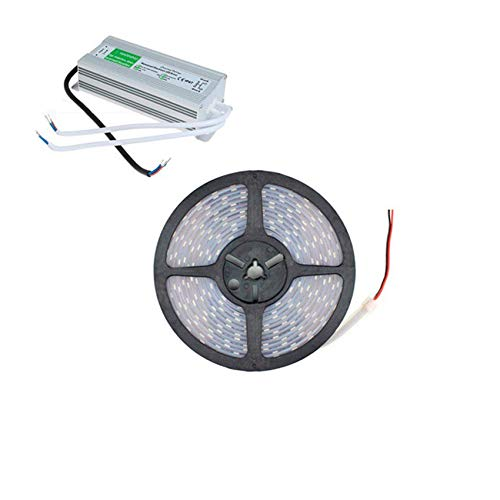 Kit Tira LED 70W 120LED/m 5m IP67 con Fuente de Alimentación IP67 Blanco Neutro 4000K-4500K