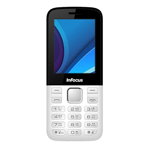 """Infocus F115 Dual Sim 2.4"""" Display 1450 mAh Battery - White"""