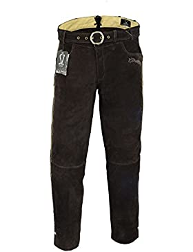 SHAMZEE Trachten lederhose lang inklusive Gürtel aus Echtleder in braun farbe größe 46 - 62