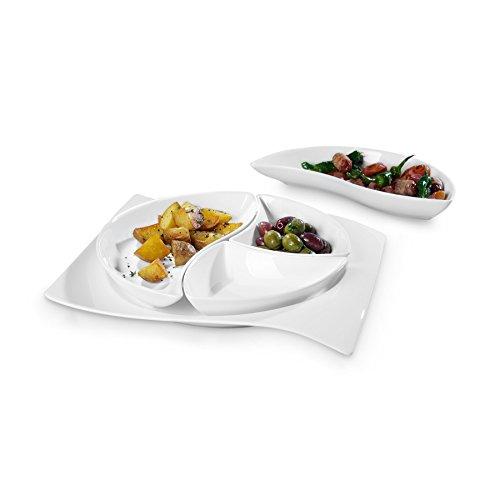 Villeroy & Boch 10-2525-9070 Tapas Set, Porcelaine, Blanc, 39.00 x 26,5 x 37 cm - 5 unités