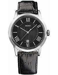 Hugo Boss 1512429 - Reloj de caballero de cuarzo, correa de piel color negro
