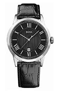 Hugo Boss - 1512429 - Gents Watch - Analogue Quartz - Black Dial - Black Leather Strap