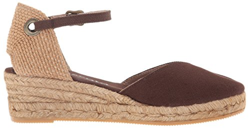 VISCATA Pubol Ankle-Strap, Closed Toe, Classic Espadrilles with 2-inch Heel Made in Spain Marron