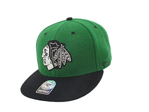 47 Brand - NHL MLB Cap Eishockey Baseball Basecap Kappe Mütze Hut (NHL - Chicago Blackhawks - Nr. 6)