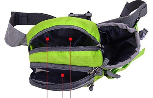 lethigho wasserabweisend leicht Taille Rucksack Fahrrad Outdoor Sports Gym Taille Tasche mit Wasser Flasche (nicht im Lieferumfang enthalten) Halter für Running Outdoor-Reise Camping Klettern Fashion  Blau