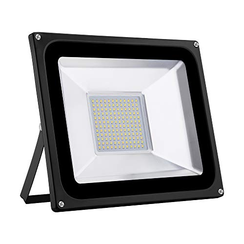 100W LED Foco proyector para exterior, LED Reflector industrial Floodlight Iluminación Decoración...