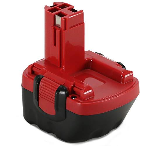 POWERAXIS für Bosch Akku 12V Ni-MH Ersatzakku für PSR 12 Bosch 2607335261 2607335273 2607335274 2607335541 2607335262 2607335415 2607335454 2607335375 BAT043 PSR12VE-2 PSR 1200 GSR12 VE-2