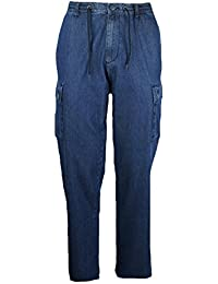 e8d64ba073a725 SEA BARRIER Pantalone Jeans Leggero Lungo Uomo Taglie Forti Darcy TASCONI