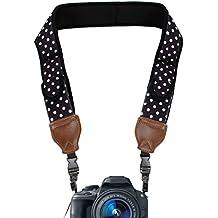 USA Gear Correa para el Cuello para Cámara Réflex / Soporte Hombro de Cámaras DSLR - Nikon D5300 D5500 D3300 D3200 D500 Canon EOS 700D 750D 1300D 6D Sony Alpha A6300 A6000 A7 Pentax K50 y muchas más