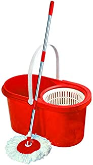 Pratap Home Line Cleaning Bucket Mop, HL-CL-001R, Plastic, Red