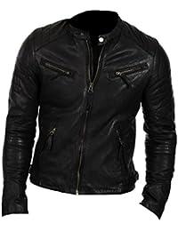 Classyak Veste Mode élégante en Cuir véritable de qualité supérieure pour  Homme e891cbe54773