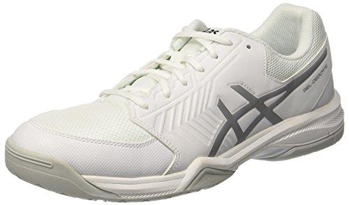Asics Gel-Dedicate 5, Scarpe da Tennis Uomo, Bianco (White / Silver), 41.5 EU