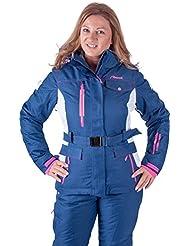 ALM réseau de ski femme veste et pantalon de ski 2pièces en bleu
