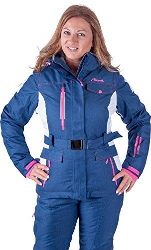 Almwerk Damen Skijacke und Skihose 2.tlg in blau, Größe Damen:38