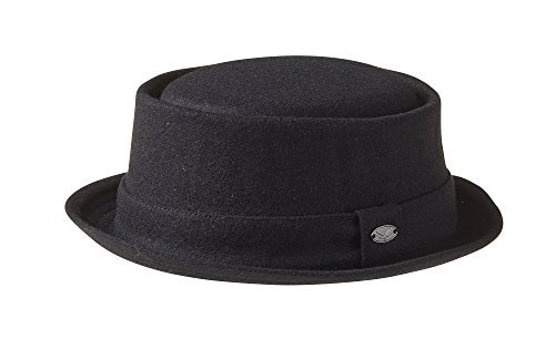 Wolle 'Breaking Bad' Style 'Pork Pie Hat - Schwarz Gr. Medium, schwarz