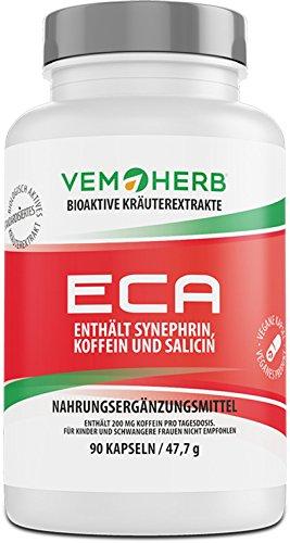 ECA - SYNEPHRIN / SALICIN / KOFFEIN - natürliche Alternative von Ephedrin / Koffein / Acylpirin | Hardcore Fatburner | hochdosiert | Extrem pre workout Booster | 90 Kapseln