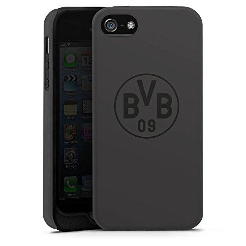 Apple iPhone 6 Hülle Case Handyhülle Borussia Dortmund BVB Logo grau Tough Case matt