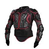 Poolney Armure de Moto Complet pour Le Corps, Moto, Moto, Protection, équipement de Protection Red XXXL