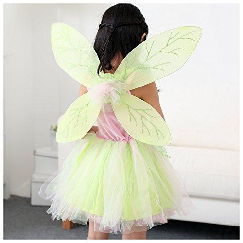 Imagen de m&a disfraz de campanilla para niña verde 128/134 talla del fabricante l  alternativa
