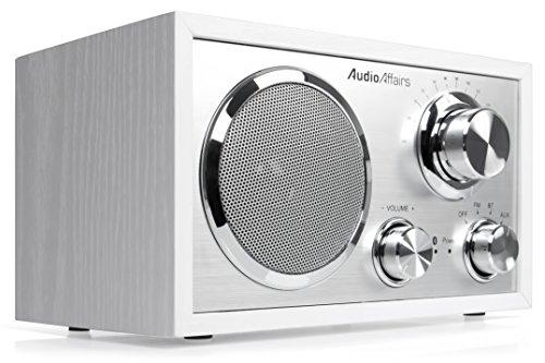 Preisvergleich Produktbild AudioAffairs Nostalgie-Radio UKW-Retroradio mit Bluetooth,  AUX-IN,  Kopfhörereingang – Nur erhältlich auf Amazon.de