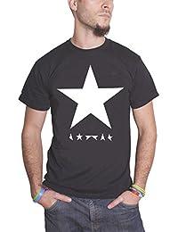 David Bowie T Shirt Blackstar Band Logo Album Cover officiel Homme nouveau Noir