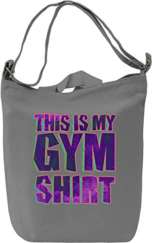 This Is My Gym Shirt Leinwand Tagestasche Canvas Day Bag| 100% Premium Cotton Canvas| DTG Printing| (Street Life T-shirt)
