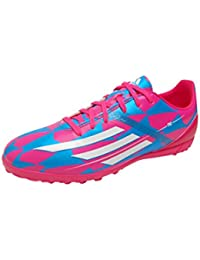 F10 TRX TF Football Trainers Neon Pink/Running White/Solar Blue