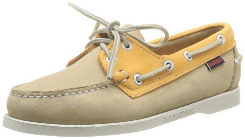 Sebago Spinnaker, Chaussures bateau femme Blanc (Taupe/Orange)