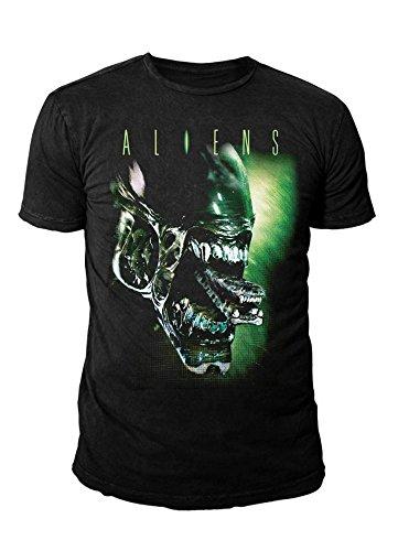 Aliens-Die-Rckkehr-Herren-T-Shirt-Alien-Head-Buster-Schwarz-S-XL