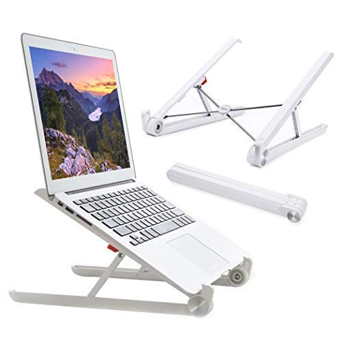 Elekin Support de Ordinateur Portable Ventilé, 26-30 ° Réglable Inclinable, Ergonomique Stand de Bureau Pliable pour MacBook Air Pro/PC/iPad/Notebook/Tablette (11-17.3 Pouce)