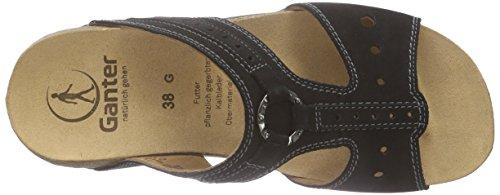Ganter Giulia, Weite G Damen Pantoletten Schwarz (schwarz 0100)