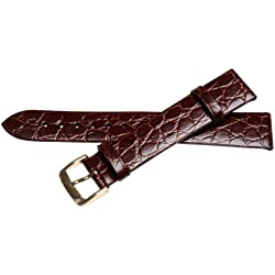 Bernex Sobek L Unisex Brown Leather Buckle Pin of 1.8cm GB42352