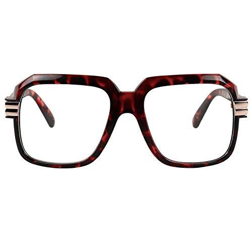 Kiss Brillen in neutralen OLD SCHOOL mod. RUN-DMC - optischen rahmen VINTAGE mann frau HIP-HOP - HAVANNA