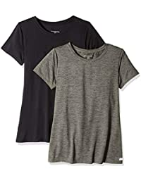 Amazon Essentials 2-Pack Tech Stretch Short-Sleeve Crewneck T-Shirt Mujer