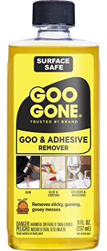 Goo Gone originale liquido adesivo sicuro–Superficie di rimozione–rimuove adesivi, etichette, adesivi, residui, nastro, chewing gum, grasso, catrame–8oz.
