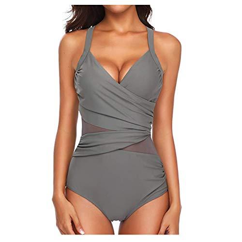 FeelinGirl Donne Calde Un Pezzo Monokini Benda Push Up Scollatura da Bagno Bikini Costume da Bagno Bikini Colors Donna Mare Costumi da Bagno Bikini