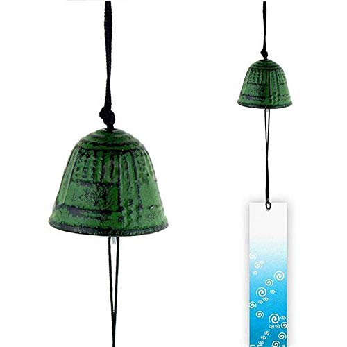 Seatour Tempelglocke Japanisches Windspiel Hänge-Sound, Klöppel, Hausdekoration, Metall Windspiel Antike Uhr Anhänger