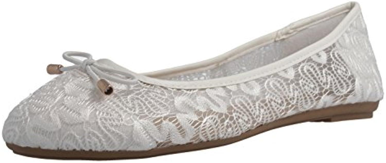 Fitters Footwear - Bailarinas de tela para mujer blanco Weiß
