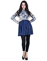 FAHD KHATRI Women's BLUE/OFFWHITE Dress